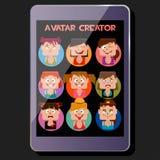Crei le emozioni del quadrato di una ragazza dell'avatar, esposizione Fotografia Stock Libera da Diritti