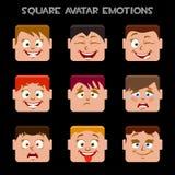 Crei le emozioni di un avatar del quadrato Immagine Stock