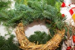 Crei le grandi composizioni nell'inverno handmade Immagini Stock