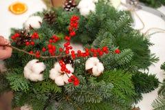 Crei le grandi composizioni nell'inverno handmade Fotografie Stock
