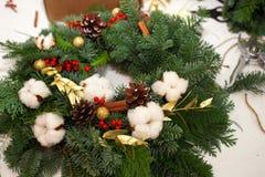 Crei le grandi composizioni nell'inverno handmade Immagine Stock