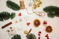 Crei le grandi composizioni nell'inverno handmade Fotografia Stock Libera da Diritti