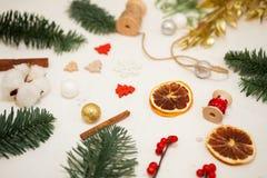 Crei le grandi composizioni nell'inverno handmade Fotografia Stock