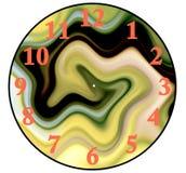 Crei un orologio con gli ambiti di provenienza di legno, isolati su bianco Immagine Stock Libera da Diritti