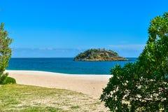 Creiro海滩在塞图巴尔,葡萄牙 免版税库存照片