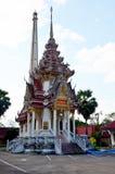 Cremação da pira funerária fúnebre de Wat Phra That Suthon Mongkhon Khiri fotografia de stock
