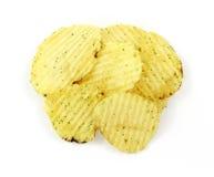 Crema amarga y patatas fritas de la cebolla foto de archivo libre de regalías