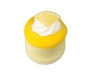 Crema batida aislada del limón Imagen de archivo