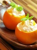Crema batida anaranjada Imagen de archivo libre de regalías