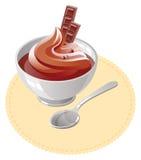Crema batida de chocolate Foto de archivo libre de regalías
