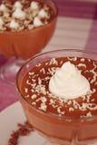 Crema batida de chocolate 3 Foto de archivo