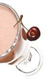 Crema batida de la cereza Foto de archivo libre de regalías