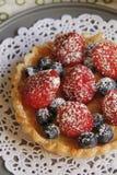 Crema Berry Tart Immagini Stock