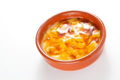 Crema catalana delicious typical Spanish dessert Stock Images
