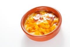 Crema catalana köstlicher typischer spanischer Nachtisch Stockbilder