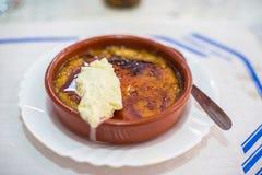 Crema Catalana ou crème brulée Image libre de droits