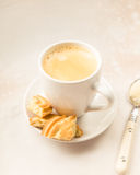 Crema coffee with biscuits Royalty Free Stock Images