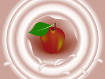 Crema con la mela Fotografie Stock