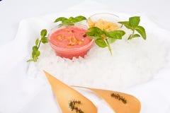Crema con sabor a fruta foto de archivo libre de regalías