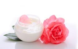 Crema corporal de la flor Imagen de archivo libre de regalías