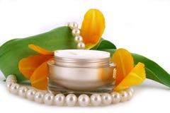 Crema cosmetica Fotografie Stock