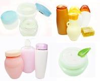Crema cosmetica per l'insieme del fronte Immagine Stock Libera da Diritti