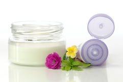 Crema cosmetica per le mani Fotografia Stock Libera da Diritti