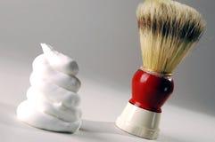 Crema de afeitar Foto de archivo libre de regalías