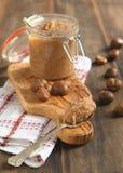 Crema de la castaña - postre francés Imagen de archivo