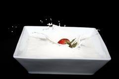 Crema de la fresa Imagenes de archivo