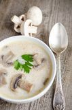 Crema de la sopa de champiñones Fotos de archivo