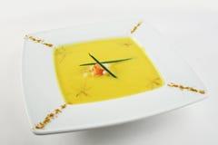 Crema de la sopa de la calabaza Foto de archivo libre de regalías