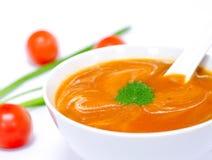 Crema de la sopa de tomate Imagenes de archivo
