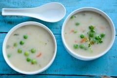 Crema de la sopa de verduras Imagenes de archivo