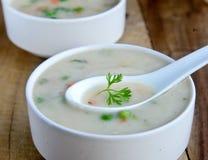 Crema de la sopa de verduras Imagen de archivo