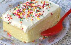 Crema de la torta Imagen de archivo