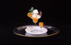 Crema de la vainilla del albaricoque Foto de archivo libre de regalías