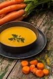Crema de la zanahoria Imagen de archivo