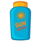 Crema de Sun Imagen de archivo libre de regalías