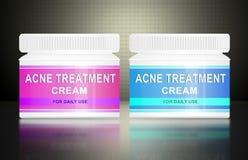 Crema del acné. Ilustración del Vector