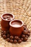 Crema del cioccolato - dessert Fotografia Stock