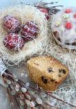 Crema del dolce del dolce di Pasqua Fotografie Stock