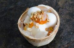 Crema del gelato al cocco Fotografia Stock