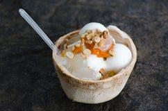 Crema del gelato al cocco Fotografia Stock Libera da Diritti
