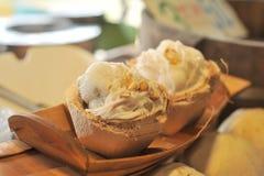 Crema del gelato al cocco Immagine Stock