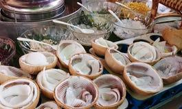 Crema del gelato al cocco Fotografie Stock
