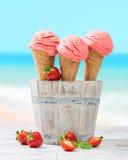 Crema del gelato alla frutta Fotografie Stock Libere da Diritti
