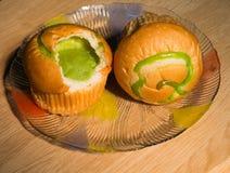 Crema del pane scheggiata Fotografie Stock Libere da Diritti