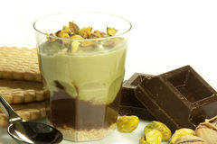 Crema del pistacchio Fotografie Stock