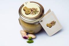 Crema del pistacho Fotos de archivo libres de regalías